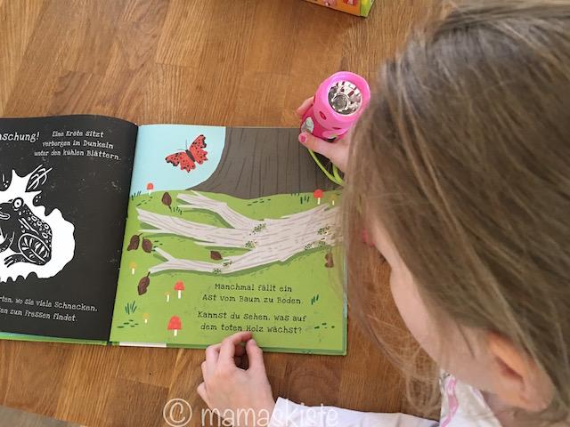 Taschenlampen-Buch zeigen