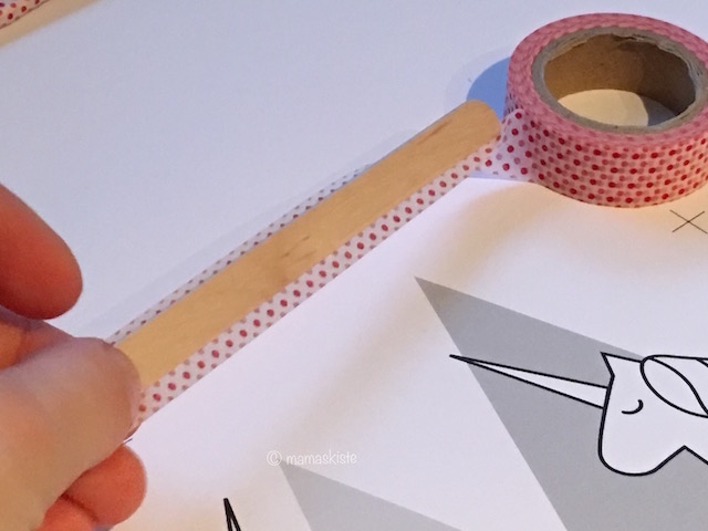 Masking Tape auf Eisstiel