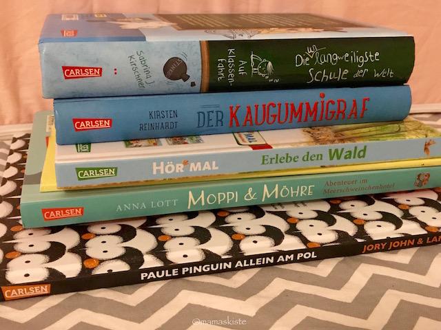 Bücherstapel Carlsen vorlesen