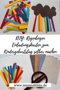 DIY Regenbogen Einladungskarten