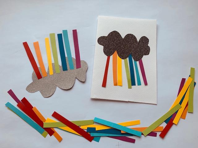 Regenbogen Einladungskarte Kindergeburtstag